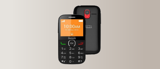 The Alcatel One Touch 2004C in black
