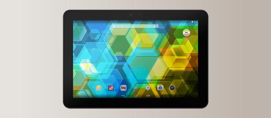 La tableta Edison 3 3G en color negro