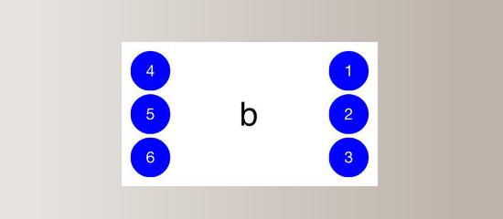 Interfaz de la aplicación que muestra el teclado braille en versión pantalla táctil.