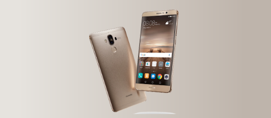 The Huawei Mate 9 in golden