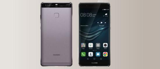 The Huawei P9 in gray