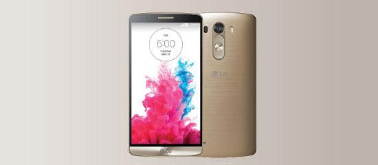 The LG G3 in gold color