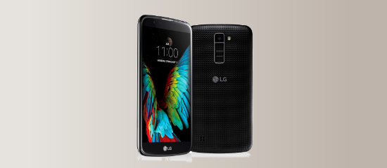 The LG K10 in black