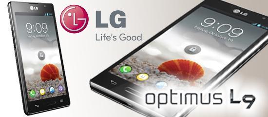 Imagen del dispositivo LG Optimus 9 con el logo del fabricante