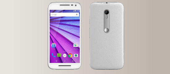 El Moto G en color blanco