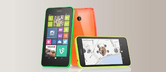El Nokia Lumia 635 en verde, amarillo y naranja