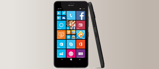 The Lumia 640 XL in black