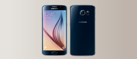 The Samsung Galaxy S6 in black