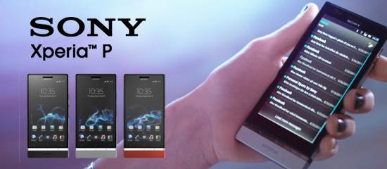 Imagen de una mano sujetando un Sony Xperia P