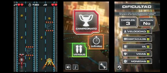 Pantallazos de la aplicación SpeedStar